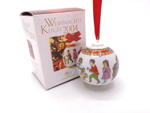 Porzellankugel Weihnachtskugel 2004 - Hutschenreuther - in
