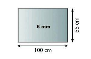 Funkenschutzplatte Glas 6mm Lienbacher Vorlegeplatte Rechteck 100x55cm