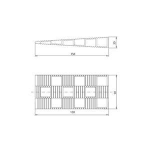 Montagekeile L Kunststoff Keile Fensterkeile, 150x45x20 mm, Menge:200 Stück