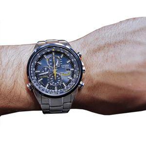 Citizen Herren-Armbanduhr Promaster Blue Angels Chronograph Eco-Drive AT8020-54L