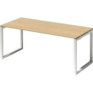 Bisley Schreibtisch CITO O 1800x740x800mm weiss/ahorn