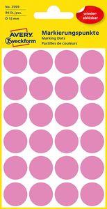 AVERY Zweckform Markierungspunkte ablösbar 18 mm pink 96 Stück