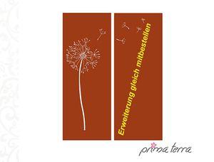 """Sichtschutz """"Pusteblume"""", Edelrost, H=158 cm, Breite 60 cm"""