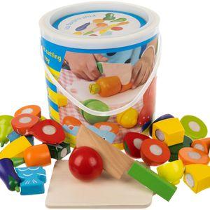 Küchenspielzeug Schneiden Lebensmittel Obst Gemüse mit Klett-Verbindung 12535