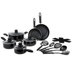 ONVAYA 16-teiliges Kochset | Topfset | Kochgeschirr | Kochtopf und Pfannenset
