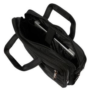 XXL Arbeitstasche Schultertasche Flugbegleiter Umhängetasche Business Messenger Bag Tasche Schwarz