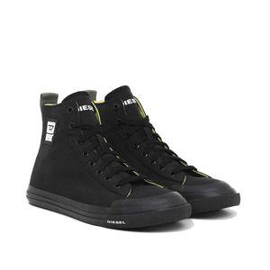 DIESEL Herren High Sneaker - S-Astico Mid Cut, High Tops, Leder Schwarz2 EUR 44