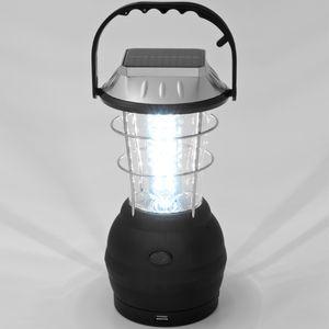 Monzana LED Solar Campinglampe Multifunktion Outdoor Camping Zeltlampe Campingleuchte I 36 LEDs I Akku I Tragegriff I Dynamo-Funktion