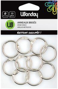 Wonday Verbindungsringe Durchmesser: 25 mm aus Metall 10 Stück