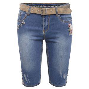 Jeansshort Bahati Lisa in Blau von Marjo Trachten, Größe:32, Farbe:Blau