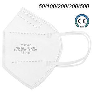 50x Masvan FFP2 Maske Atemschutzmaske Mundschutz Maske Gesichtschutzmaske Schutzmaske Maske Masken CE2163