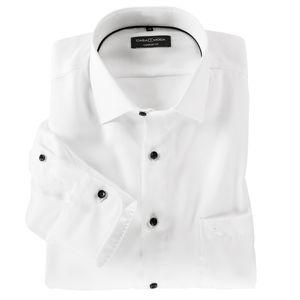 CasaModa XXL Langarmhemd Struktur weiß bügelfrei, Kragenweite:48