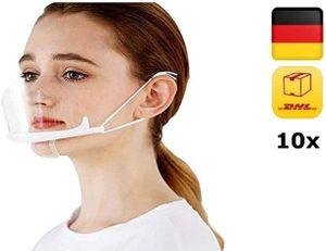10Stück Kunststoff Visier Gesichtsschutz AntiFog Transparent Schutzvisier Schirm