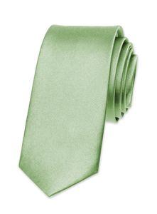 Krawatte Herren Hochzeit Konfirmation Slim Tie Retro Business Schlips schmal Autiga® hellgrün