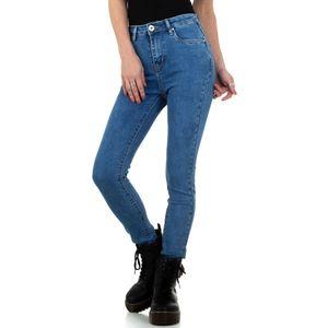 Ital-Design Damen Jeans High Waist Jeans Blau Gr.25