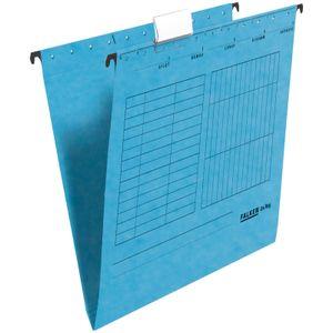 10 x FALKEN Hängemappe DIN A4 UniReg Blau 230 g/m² Kraftkarton