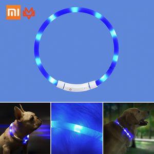 Xiaomi Youpin LED Hundehalsband Leuchtendes wiederaufladbares USB-Haustier-Hundehalsband fuer naechtliche Sicherheit Mode-Leuchtenhalsband fuer kleine, mittelgrosse Hunde