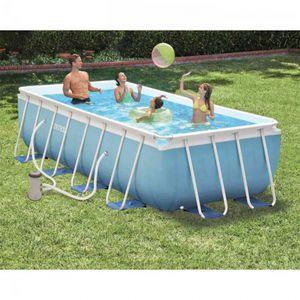 Intex Prisma Frame Pool | 488 x 244 x 107 cm | Pumpe Leiter Planen | 26792