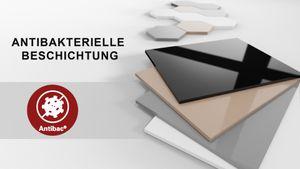 Design Couchtisch Tisch HM-111 Grau / Weiß Hochglanz Schublade höhenverstellbar ausziehbar Esstisch