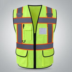 XL Warnweste Reflektorweste Sicherheitsweste, Sicherheits Zubehör für Erwachsene, Atmungsaktiv & Leicht