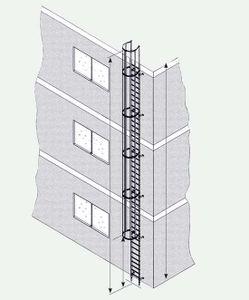 ZARGES Steigleiter Stahl verzinkt 5,60 m