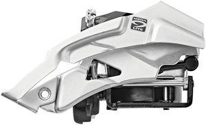Shimano Altus FD-M2000 Umwerfer 3x9-fach Top Swing Schelle Tief schwarz Ausführung 66-69°