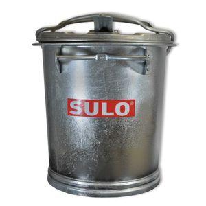 25 Liter Mülltonne aus Stahl verzinkt SULO SME25 Retrodesign Abfalltonne Aschentonne hitzebeständig Eimer