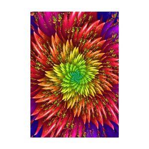 Blumenkristalle Stickerei Kits DIY Handwerk Malerei bunt Mehrfarbig 40 x 30 cm