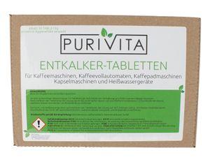 Purivita - Entkalkungstabletten - für Kaffeemaschine und Kaffeevollautomat 30er Packung