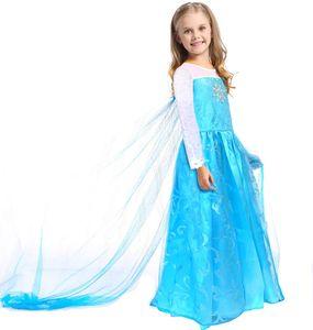 Kinder Kleid von Elsa | Kostüm für kleine Eiskönigin Fans | Größe: 140