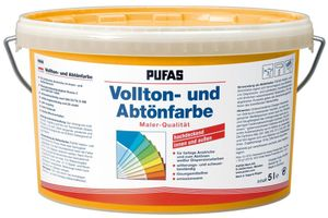 PUFAS Vollton- und Abtönfarben - apricot - 5 Liter