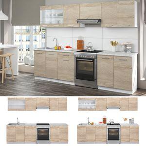 Vicco Küche Raul Küchenzeile Küchenblock Einbauküche 270 cm Sonoma