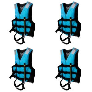 4x Schwimmweste Kajak Boot Schwimmen Angeln Schwimmweste xxl + xl + l + m blau