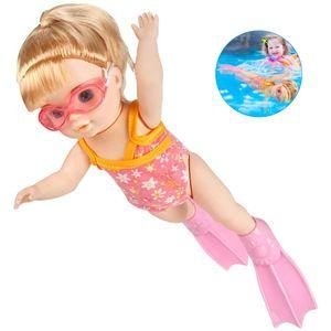 Schwimmende Puppe Badepuppe Frühen Pädagogisches Kinderspielzeug