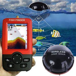 Lake Sea Fishing Smart tragbarer Fischfinder Tiefenalarm Drahtloser Sonarsensor