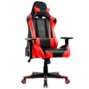 Gaming Stuhl, Racing Gamer Stuhl, Bürostuhl, Ergonomischer höhenverstellbar Schreibtischstuhl, Rot