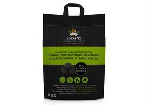 Kokostix Grillbriketts 10kg im Sack aus Kokos-Kohle - extra lange Brenndauer - gleichbleibende Hitzeabgabe