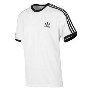 adidas Originals 3-Streifen T-Shirt Herren Weiß (CW1203) Größe: L