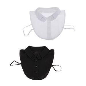 2er Set Damen Chiffon Blusenkragen Einsatz Kragen für Blusen, Hemd, Schluppenbluse, Weich und Seidig