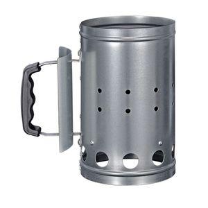 HI 60061 Grill Kohleanzünder aus Metall, silber