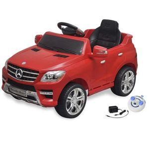 vidaXL Elektroauto Ride-on Mercedes Benz ML350 Rot 6 V mit Fernbedienung