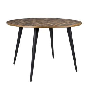 Esstisch MO 110 cm mit runder Platte aus recycled Teak
