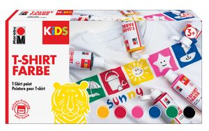 "Marabu KiDS Textilfarbe ""T-Shirt Farbe"" 6er-Set 6 x 80 ml auf Wasserbasis"