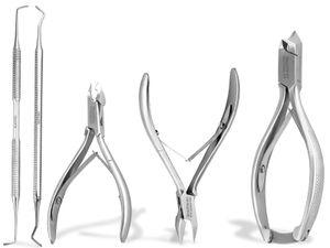 Nagelzangen Set Kopfschneider Eckenzange Nagelhautzange Nagelzange Eckenheber für extra starke Nägel Fußpflege Instrumente Edelstahl Rostfrei