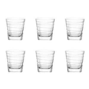 LEONARDO 019449 Vario Struttura Whiskybecher, Glas, 250 ml, klar (6 Stück)
