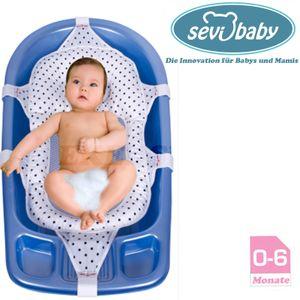 Baby Badewannennetz Luxury BadeNetz Blau Sevibaby Badewannensitz Netz Badesitz Bad 689-7