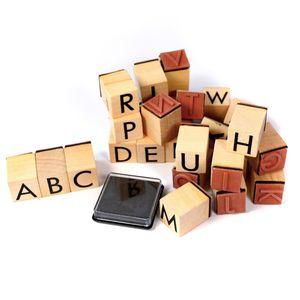 26-teiliges Stempelset Alphabet inkl. Stempelkissen