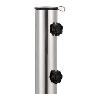 Hommie® Sonnenschirmständer Standfestigkeit Modern Design - Schirmhalter Granit 30 kg Rund Schwarz ❤9259