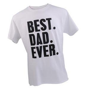 Spaß T-Shirt, Herren T Shirt, Druck Top, BEST DAD EVER, Geschenkidee, Vater Papa Größe L