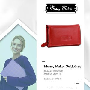 Money Maker Leder Damen Frauen Geldbörse Kellnerbörse rot RFID Schutz OPJ704R
